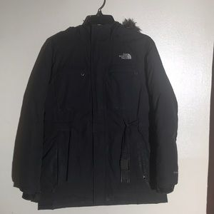North Face Hooded Buckle Jacket